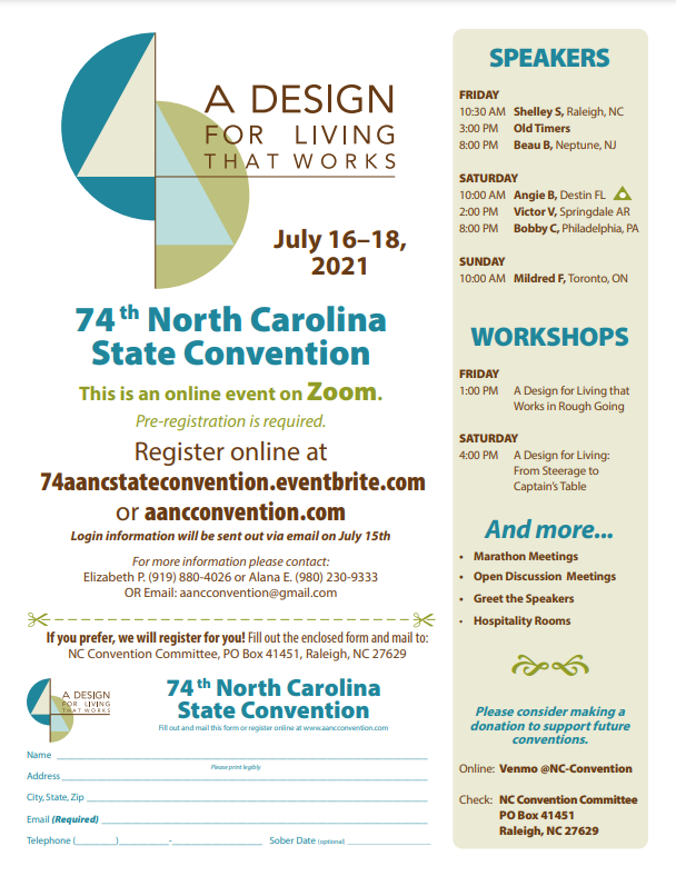 74th North Carolina State Convention - A Design for Living that Works