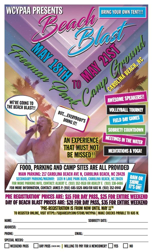 WCYPAA Beach Blast 2017 flyer