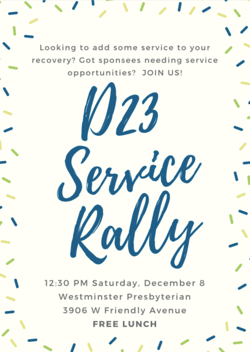 D23 Service Rally @ Westminster Presbyterian Church | Greensboro | North Carolina | United States