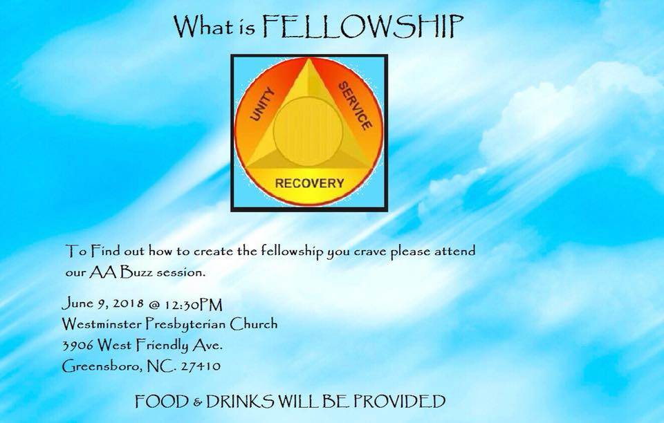 Buzz Session: Lonely in AA? Create the Fellowship You Crave! @ Westminster Presbyterian Church | Greensboro | North Carolina | United States
