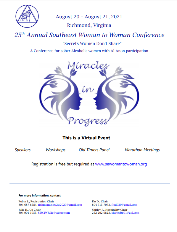 AA Southeast Woman to Woman Conference with Al-Anon Participation