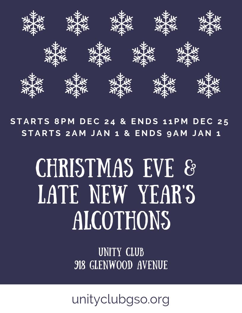 Christmas Eve Alcothon - Unity Club @ Unity Club