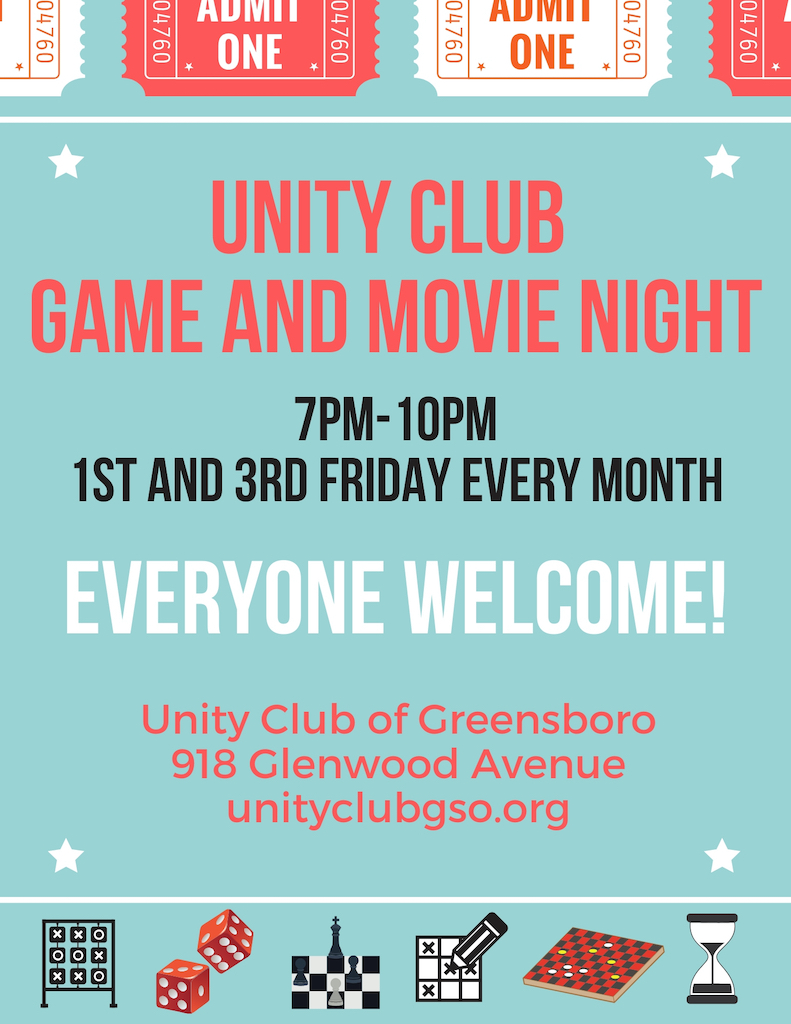 Unity Club Game & Movie Night @ Unity Club