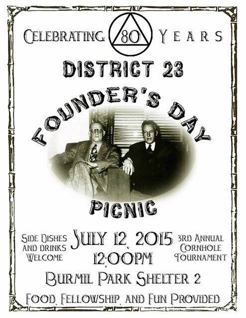 Disctrict 23's Founders' Day Picnic - Alcoholics Anonymous Greensboro