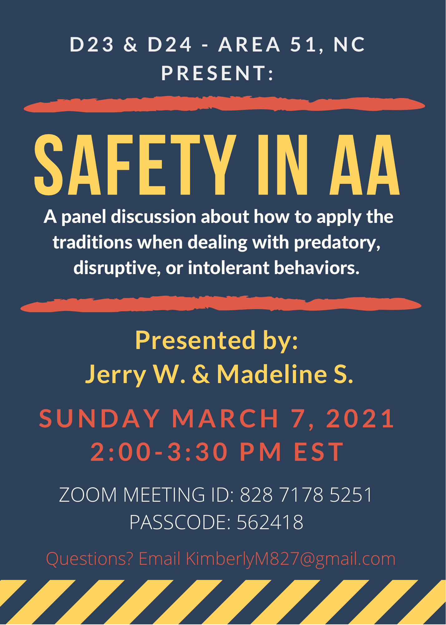 Safety in AA - A District 23 and 24 Panel Discussion